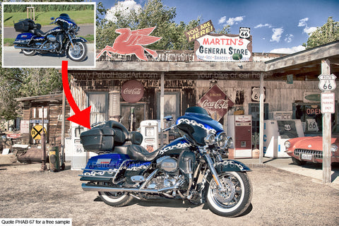 Personalized harley Art Route 66