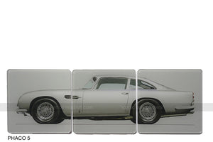 Aston Martin DB5 Bond Art Coasters