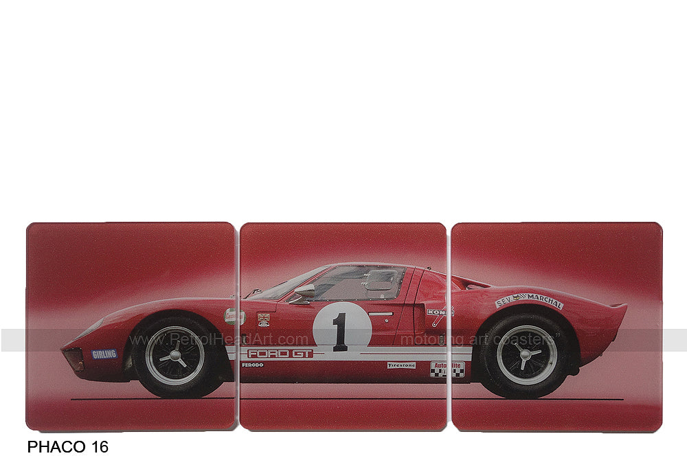 Ford GT40 Red Art Coasters