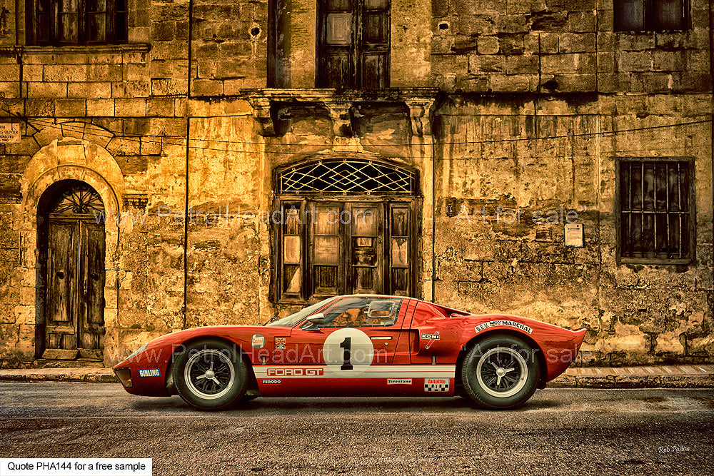 GT40 Art For Sale Greetings Card