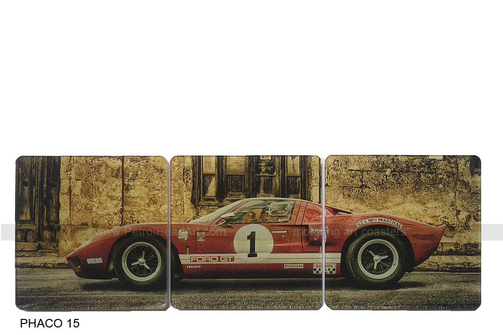 GT 40 1 Red Art Coasters