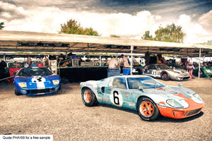 Gt40 Art In The Pits Art For Sale