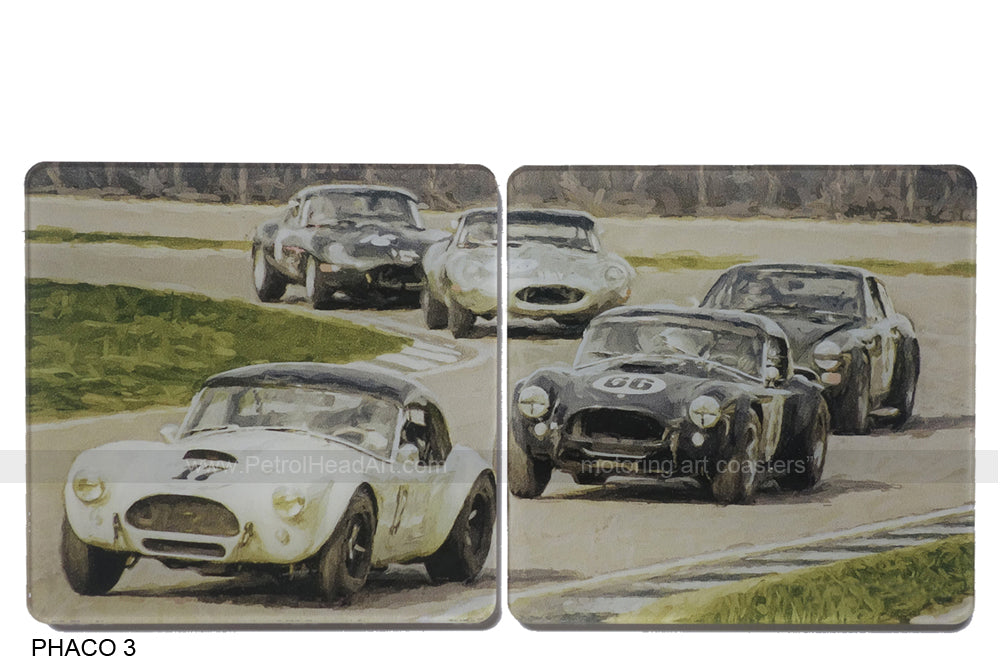 Goodwood Revival 3 Art Coasters