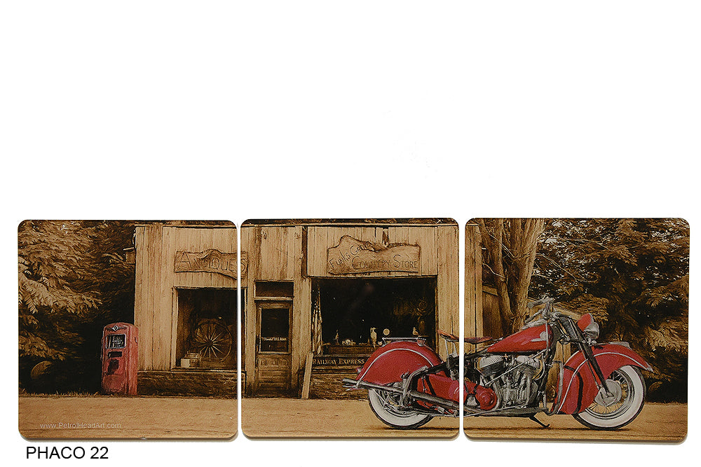 Indian Motorcycle art coasters