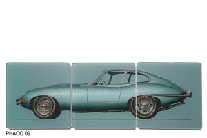 Jaguar E-Type Blue Art Coaster