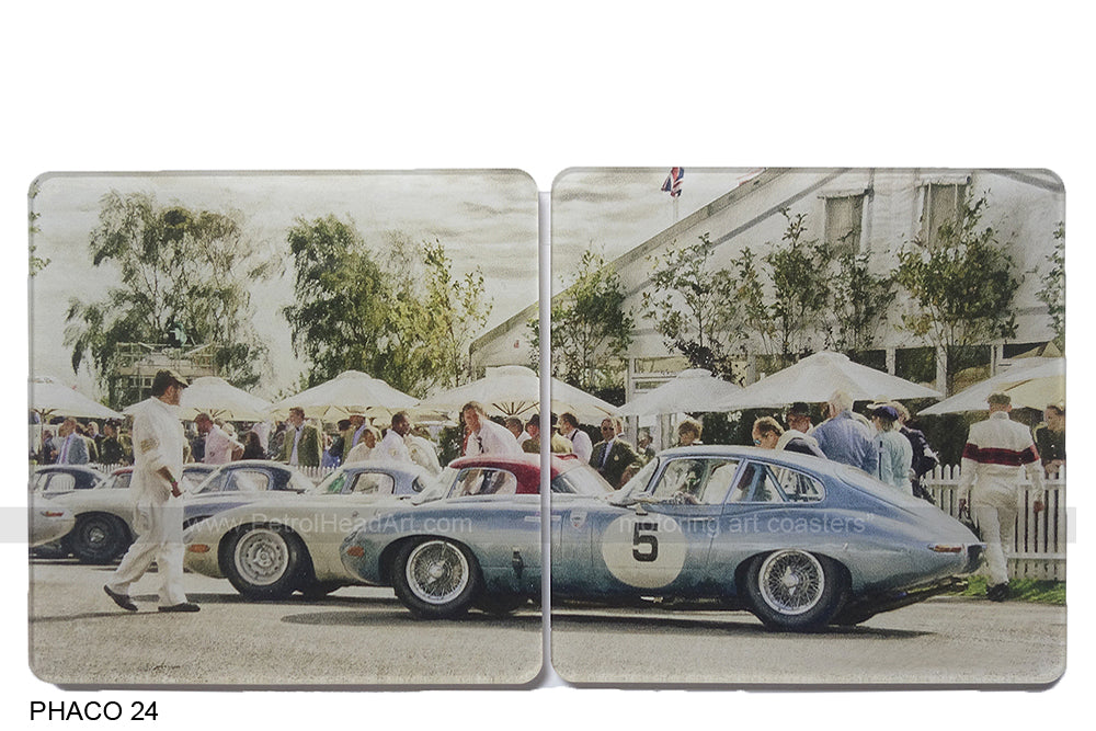 E-Type Jaguar Coasters at Goodwood