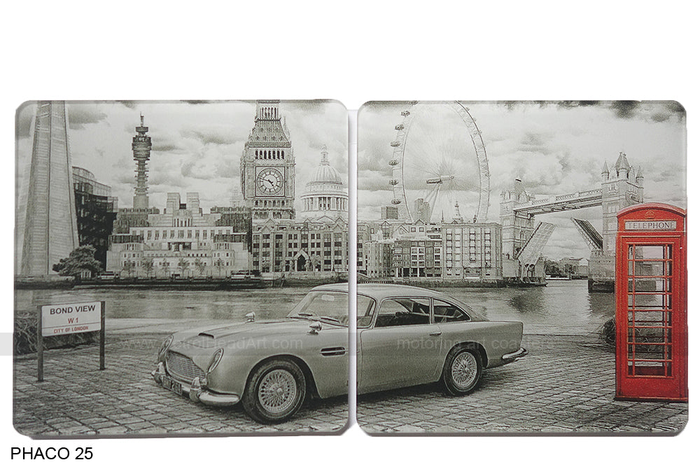 James Bond DB5 Art Coasters
