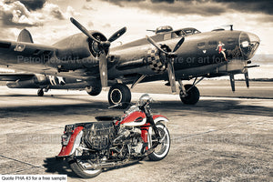 Memphis Belle and the Harley