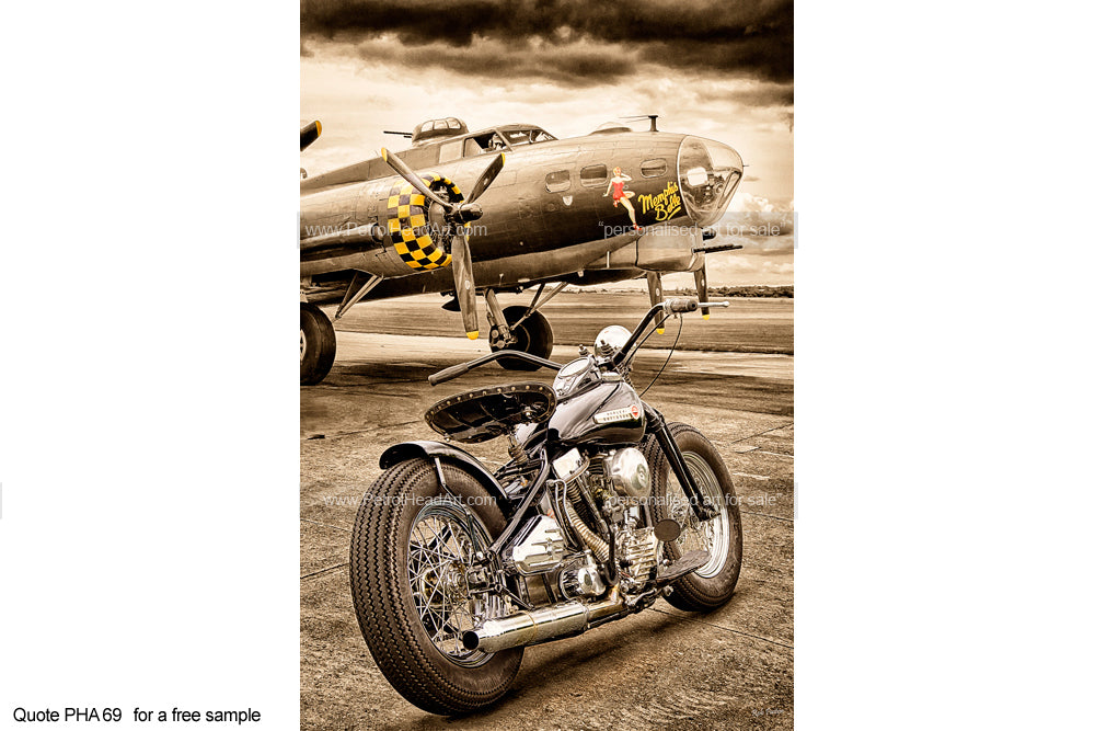 Memphis Belle Harley Art For Sale