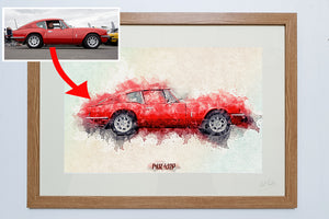 Personalised car art ideas for under £50 Arty Splash Car Art