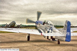 P51 Mustang Aircraft Art For Sale Greetings Card