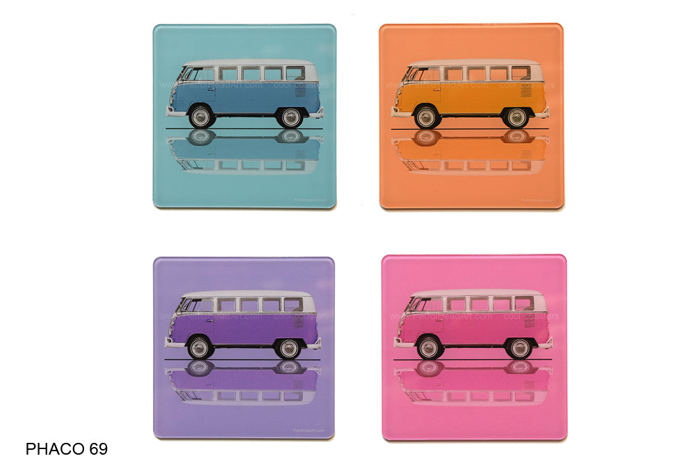 VW Camper Art Coasters