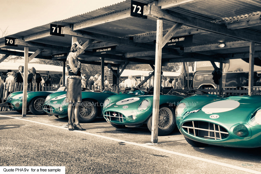 Aston Martin DBR1 Art Greetings Card