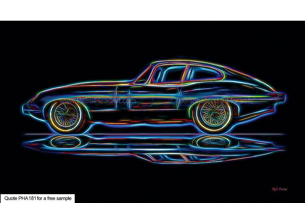 Electric E-Type Art For Sale