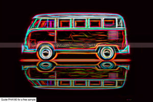 Electric Vw Camper Art For Sale