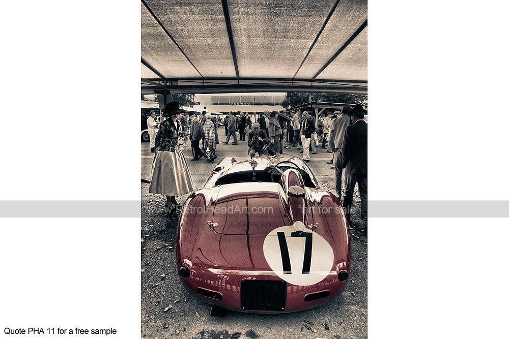 Ferrari Goodwood Revival Art 2 Greetings Card