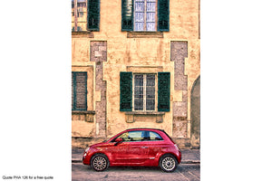Fiat 500 Art Greetings Card