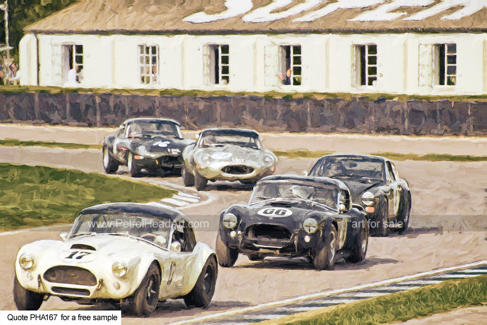 Goodwood Revival Art Cobras Art For Sale