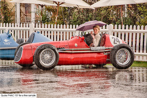 Goodwood Revival Art Rain Greetings Card