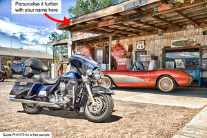 Harley Corvette Art For Sale