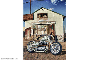 Harley Route 66 Art 2 Greetings Card