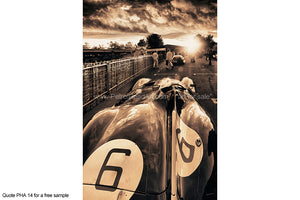 Jaguar D-Type Art Greetings Card