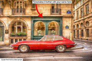 Jaguar Etype Art Paris Art For Sale