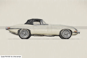 Jaguar Roadster Art For Sale