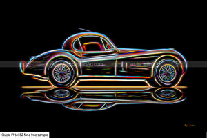 Jaguar XK Art For Sale