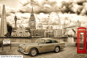 James Bond DB5 Art For Sale