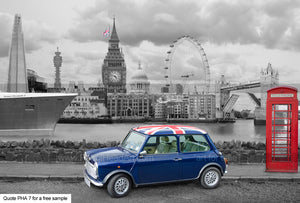 Mini London Art Greetings Card