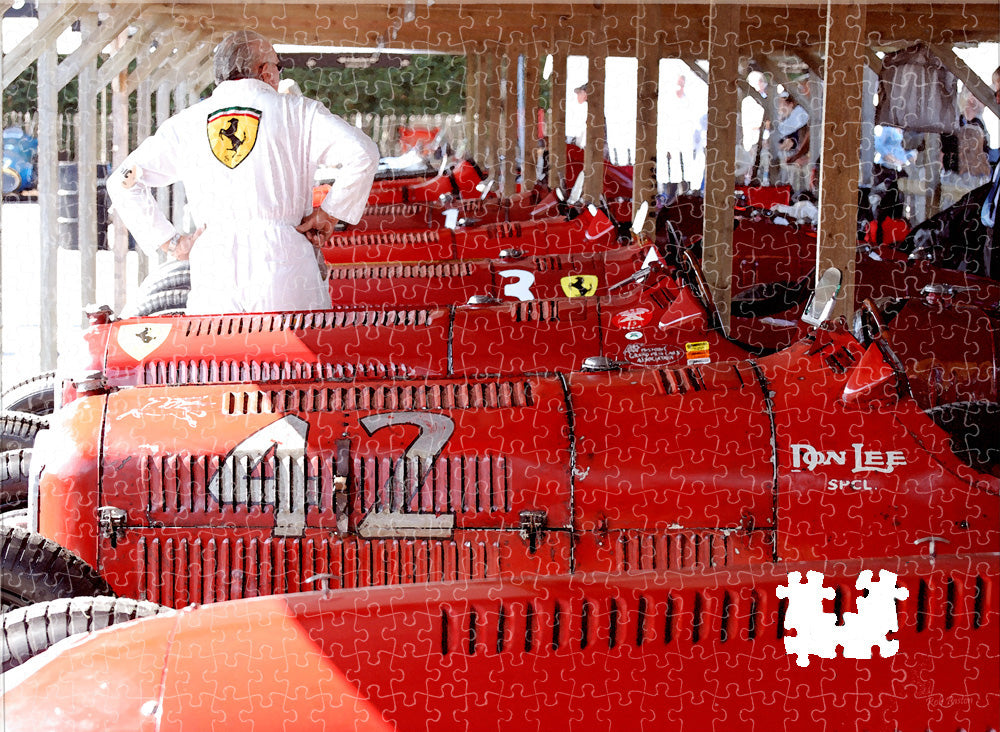 Goodwood Revival Motoring Jigsaw Puzzle Ferrari Alfa Romeo