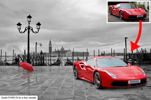 Personalised Ferrari Art Background