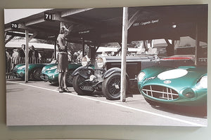 Your car in the Goodwood Revival Pits