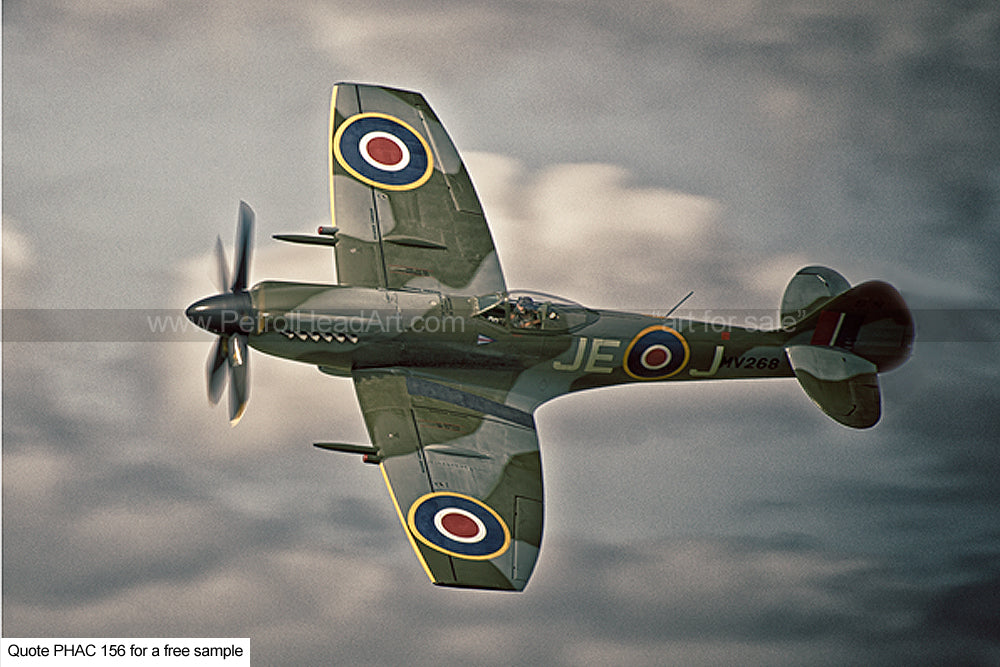 Spitfire Art At Speed Greetings Card