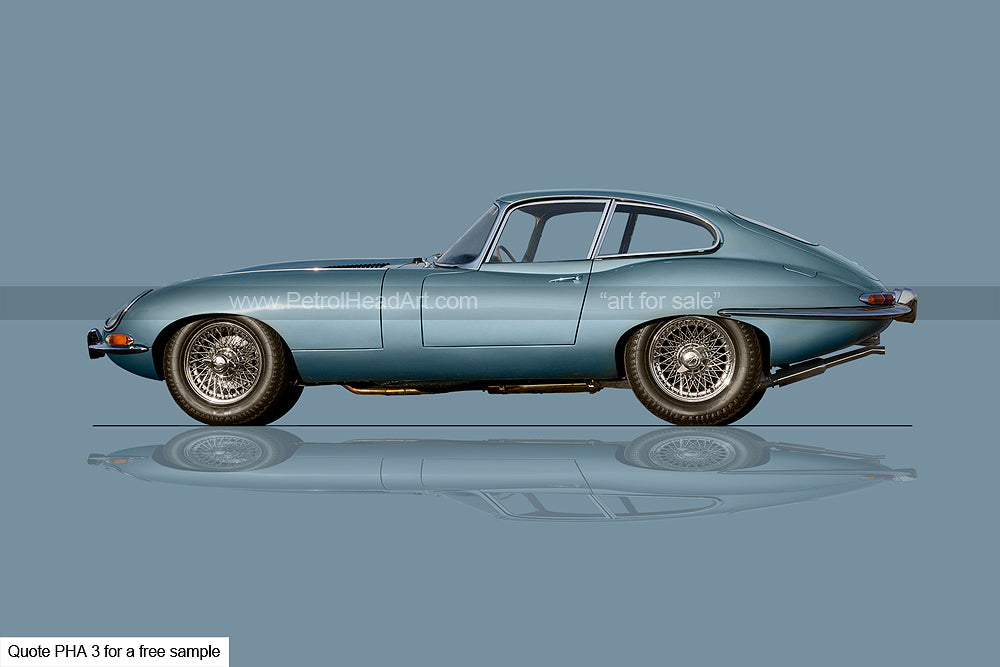 Studio Car Photography E-Type Art For Sale