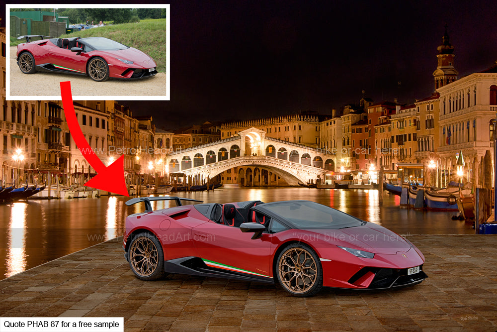 Supercar Art Rialto Bridge Background