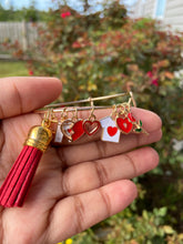Load image into Gallery viewer, Red Charm Bangle
