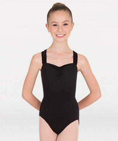 Body Wrappers Sweetheart Mesh Accent Leotard P1013