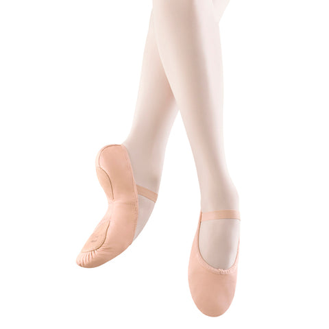 S0258L Bloch Ladies Dansoft II Split Sole Ballet Shoe - Pink Leather