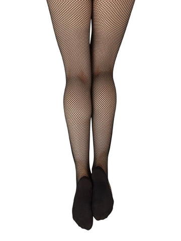 3000 Capizeo Professional Seamless Footed Fishnet Tights - Black