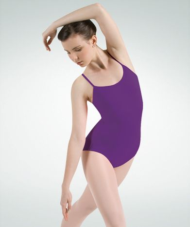 French Cut Camisole Leotard w/Cloverleaf Back- P825