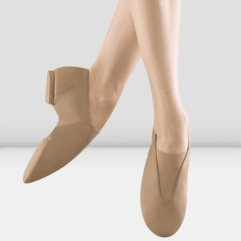 Bloch Ladies Super Jazz Slip On Jazz Shoes - Tan Leather