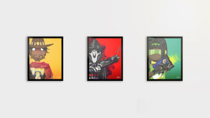 "So Indifferent Overwatch Collection |  3 x 8.5"" x 11""  Graphic Prints"