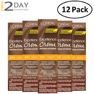 12 Pack L'OREAL Excellence Creme Browns Extreme Permanent Hair Color