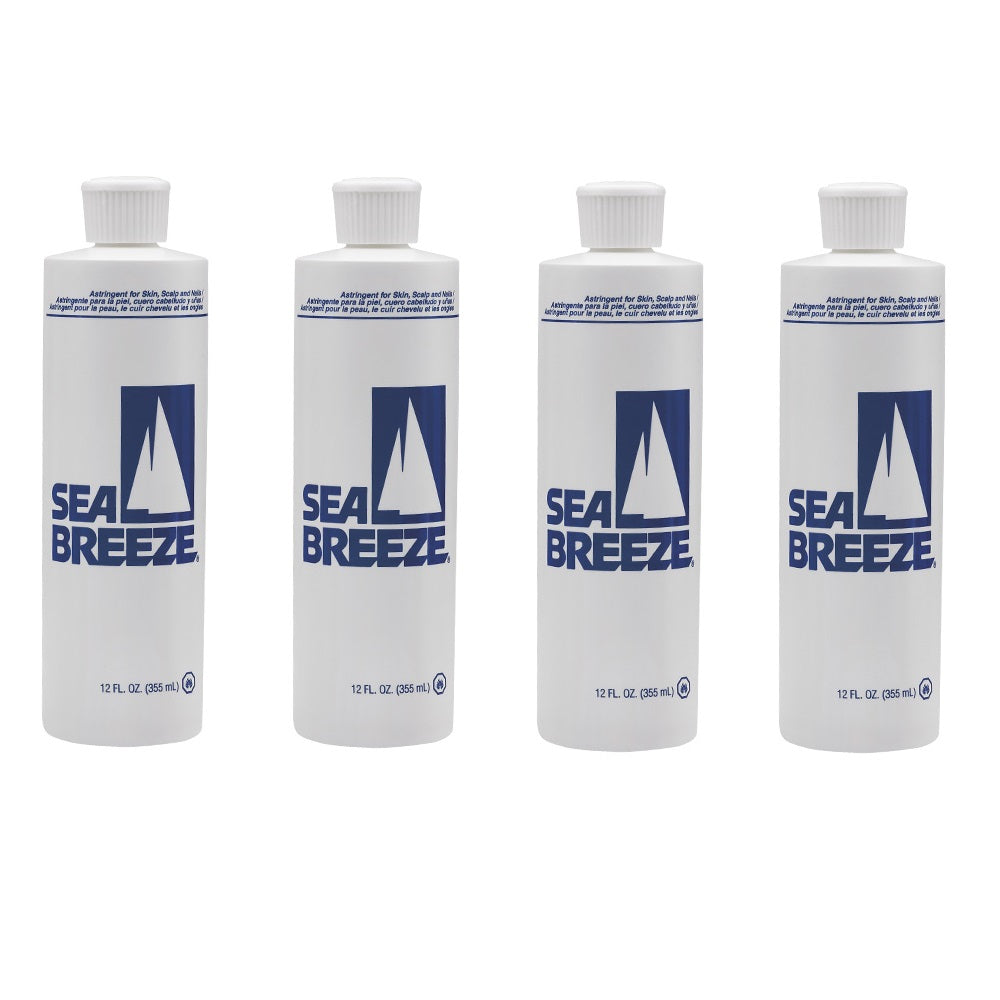 Package of 4 SEA BREEZE Astringent For Skin, Scalp & Nails 12oz 4 x HP-SEP0401 FREE 2 DAY SHIPPING
