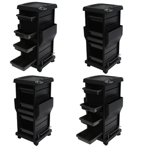 Package of 4 Deluxe Salon Trolley 4 x TR-10A