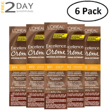 Load image into Gallery viewer, 6 Pack L'OREAL Excellence Creme Browns Extreme Permanent Hair Color