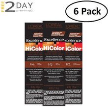 Load image into Gallery viewer, 6 Pack L'OREAL Excellence HiColor Permanent Hair Color Creme