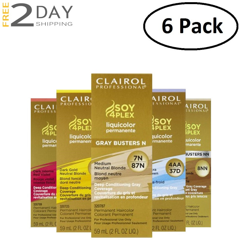 6 Pack Clairol Professional Premium Liquid Hair Color Soy4Plex